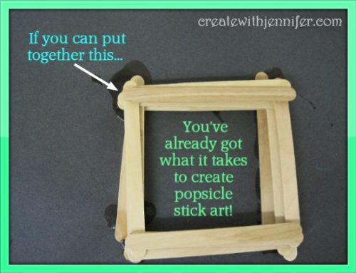 art projects popsicle sticks