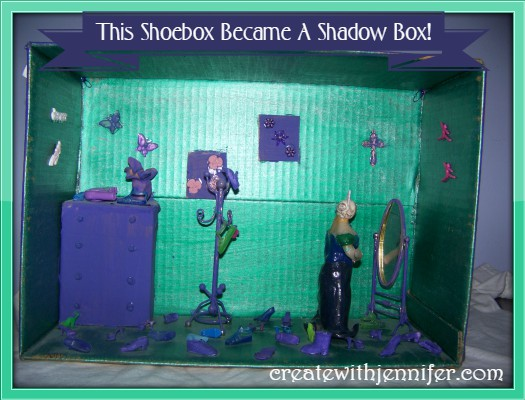 craft ideas using shoe boxes
