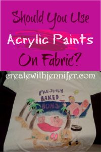 Are fabric paint and acrylic paint the same