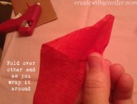 rose flower making with crepe paper