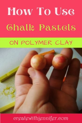 Using chalk pastels on polymer clay