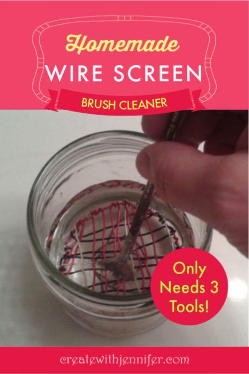 diy brush cleaner jar