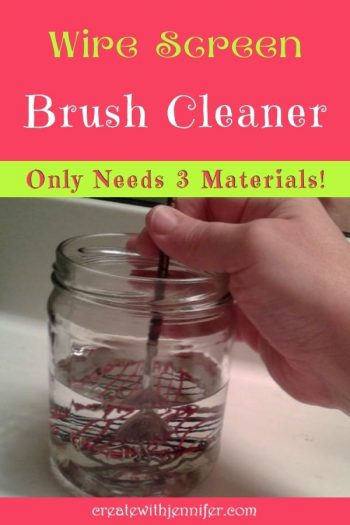 homemade wire screen brush scrubber