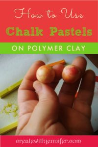 how to color polymer clay with chalk