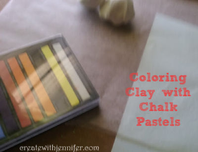 how to color polymer clay with pastels