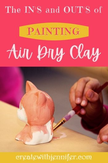 how to paint on air dry clay
