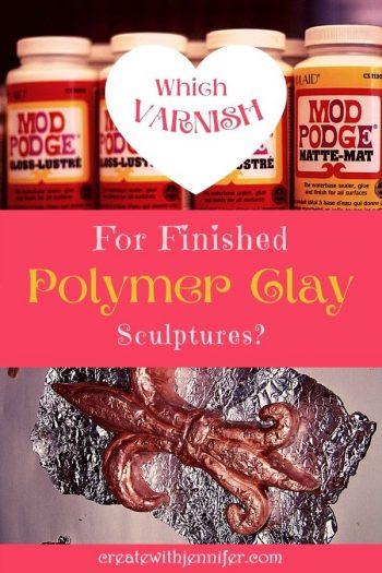 mod podge on polymer clay