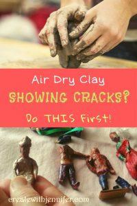 no bake clay cracking