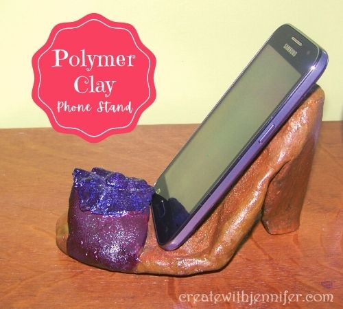 polymer clay smartphone stand