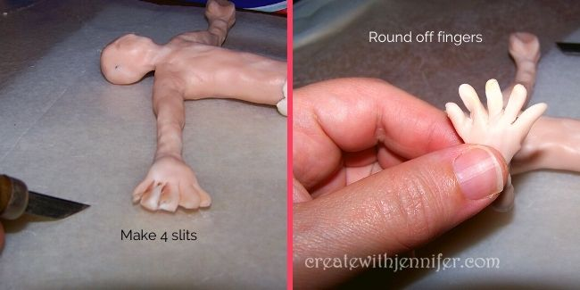 sculpting hands and feet